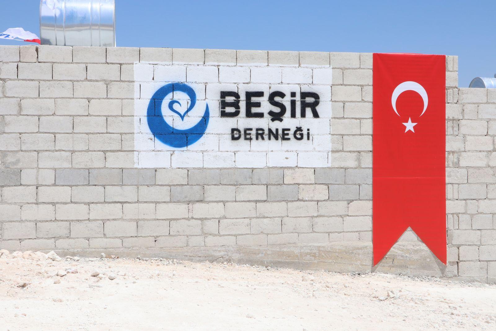 İdlib'te Yapılan Briket Evlerin Birinci Etabı Tamamlandı.