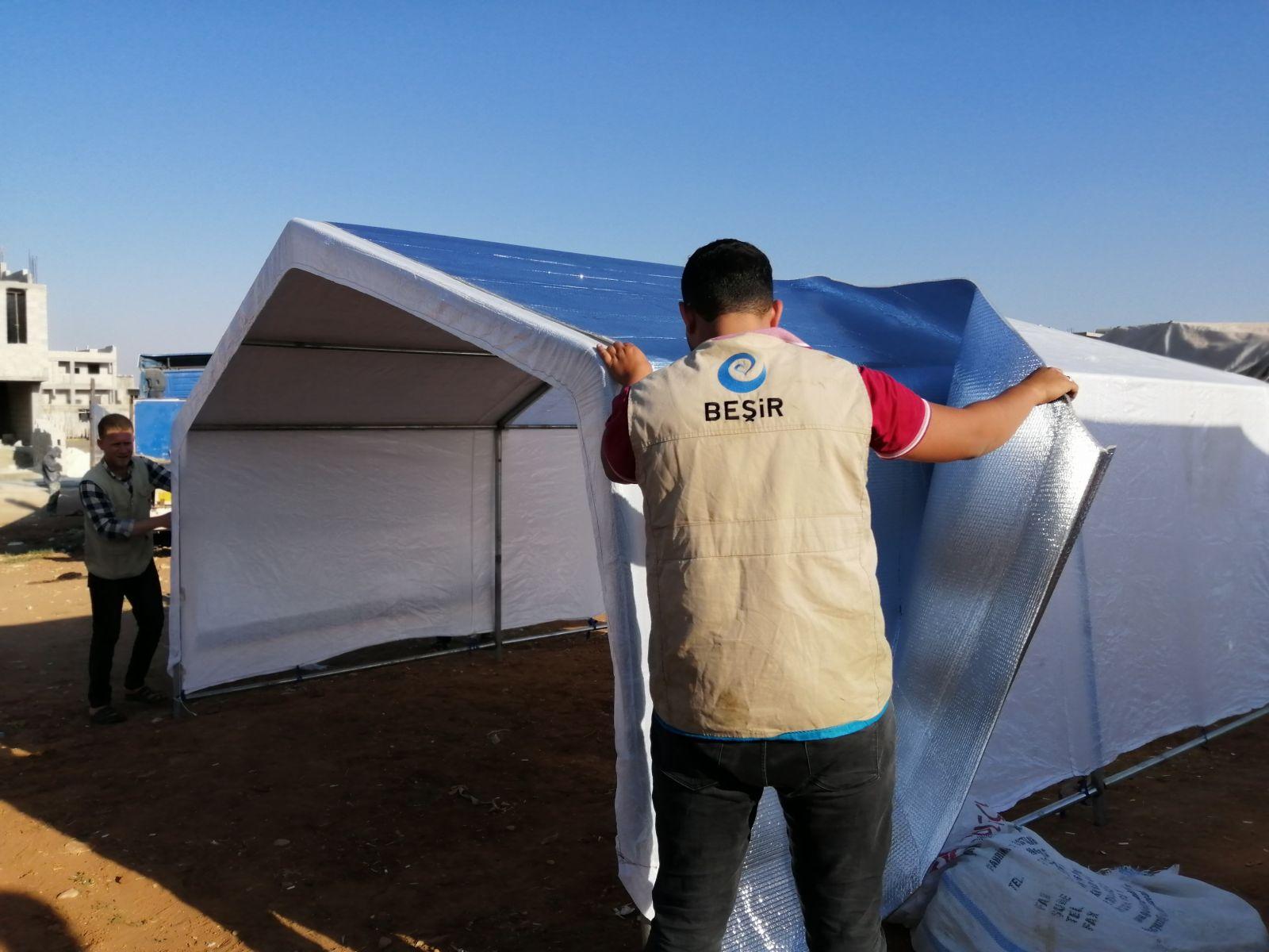 Afrin'de Yakacak, Battaniye ve Gıda Kumanyası Yardımı