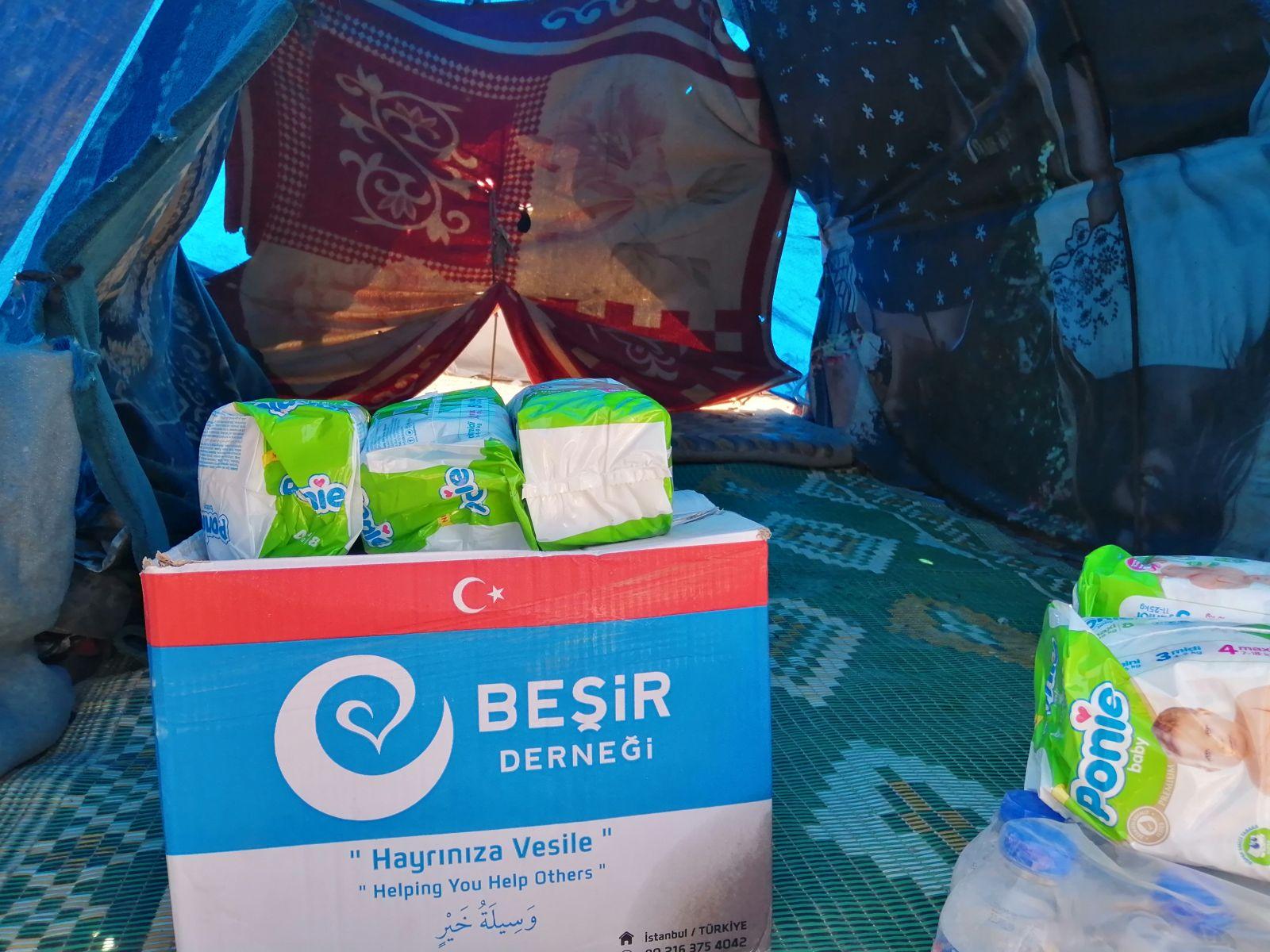 Beşir Derneği Azez'de Gönüller Yapmaya Devam Ediyor