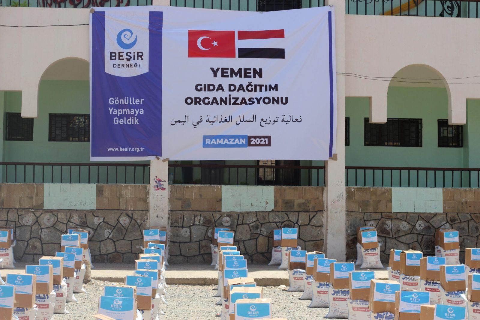 Yemen'de Gıda Dağıtım Organizasyonu