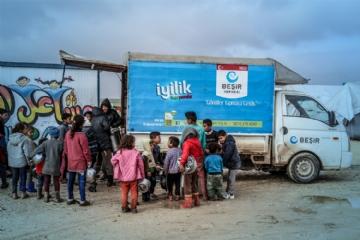 Gıda Yardımları,İnsani Yardım,Suriye Yardımları,Yurtdışı Yardımları,Beşir Derneği, Suriye, sıcak yemek, elbil kampı